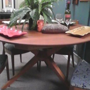 Unique dining table...any idea what brand?
