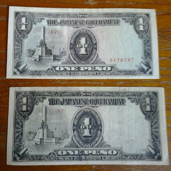 WWII Japanese Peso Serial Number #87?
