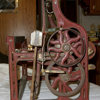 I would like info on this Salesman's Sample mechanical textile loom  - Sewing