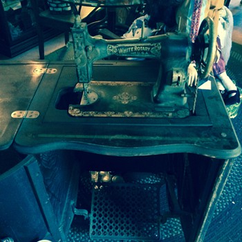 White Ratary Treadle Sewing Machine