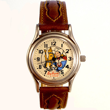 1993 Fossil Remake of the 1960's Roy Rogers Wristwatch...Serial #00000/10,000