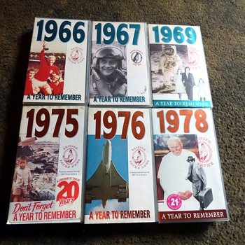1966-78, years to remember-vhs video cassettes. - Electronics