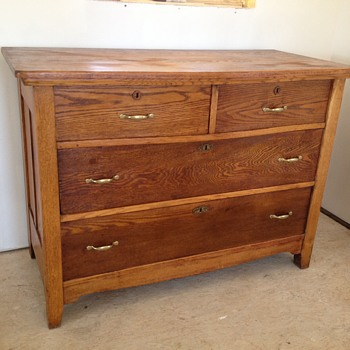 Dresser with key hole