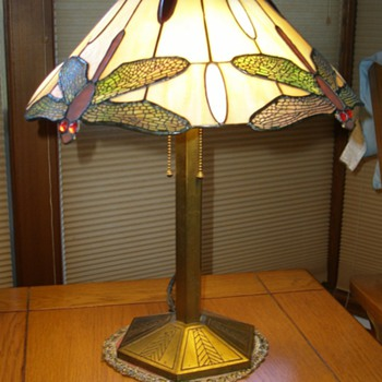 Bradley and Hubbard Dragonfly Lamp - Lamps