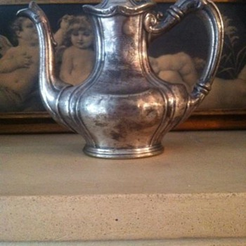 Bohemian Club Vintage Silver  Tea or Coffee pot.