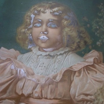 Victorian Sisters with Eerie Effect - Chromolithograph??