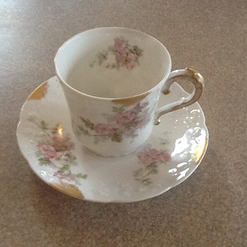 Limoges Demitasse teacup and saucer - China and Dinnerware