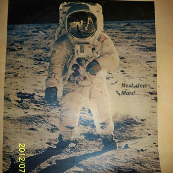 1969 Boston Globe...First Man On Moon...IN COLOR