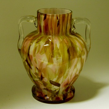 Bohemian vase with decorated handles, WELZ ??, Circa 1930-40 - Art Glass