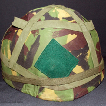 British Worcestershire and Sherwood Forester Regiment helmet.