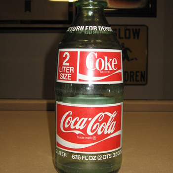 2 Liter Glass Coca-Cola Bottle