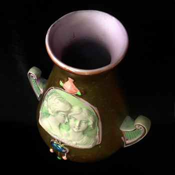 Quirky little glazed ewer my Aunt Doris gave to me when I was 10.  - Art Pottery