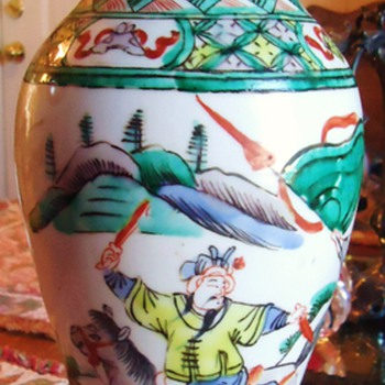 Repost, This was first post by me with 0 loves! haha  so I try again!!  Chinese vase from Hospice  $8.00 - Asian