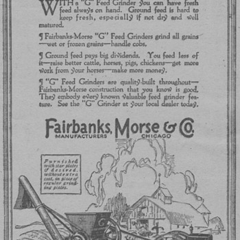 1919 - Fairbanks & Morse Advertisement - Advertising