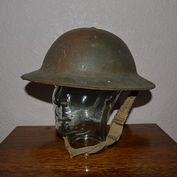 British WWI steel helmet, issued earlyWWII - Military and Wartime