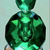 **** Emerald Green Perfume Bottle ****