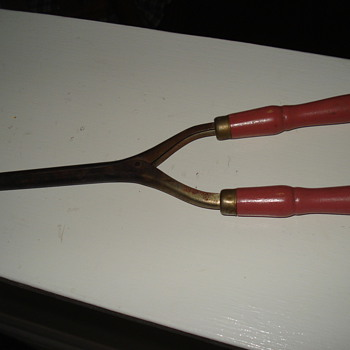 antique curling iron - Victorian Era