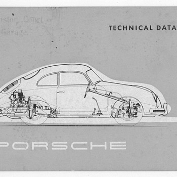 1955 Porsche 356A Technical Data Brochure
