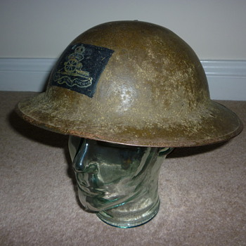 British WW1 Royal Artillery Officers steel helmet