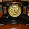 New Haven Cast Iron Marble Lion/Gargoyle Clock