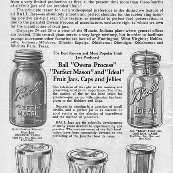 1930 Ball Canning Jars - Bottles