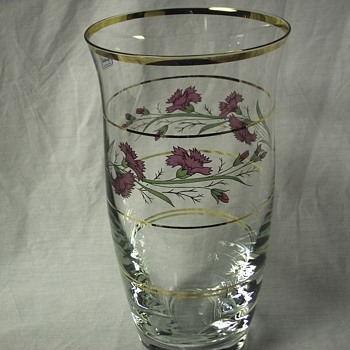 "Bohemian Crystal Glass Vase""XX Century"""