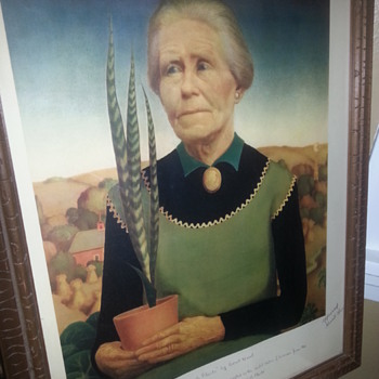 Grant Wood Litho 1938 Artist Signed - Posters and Prints