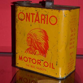 ontario motor oil can - Petroliana