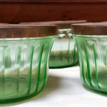 Hazel Atlas green jar with metal lids--purpose? - Glassware