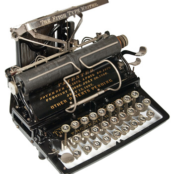 Fitch 1 Typewriter - 1888  (antiquetypewriters.com) - Office