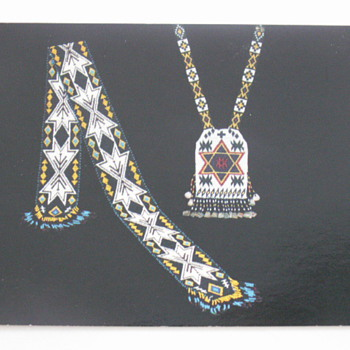 1890-1900 Neckpiece & 1900-1925 Belt - Postcards