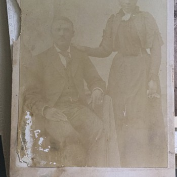 Photograph of couple from late 1800s