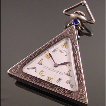 Masonic Silver Triangular Pocket Watch c.1930