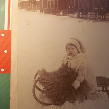 I WISH THIS WAS MY STREET TODAY, PHOTO ,A CABINET CARD 1900 & Pic of LINDA the daughter I speak about daily.. - Photographs