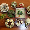 Brooches #6 - flowers, insects and other things