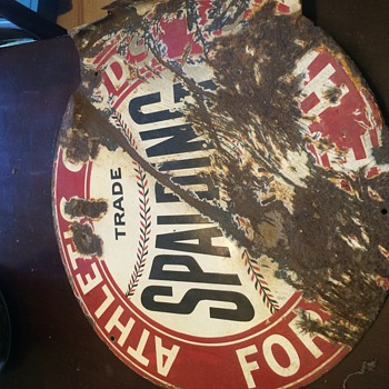 Spalding athletic goods porclin metal sign - Advertising