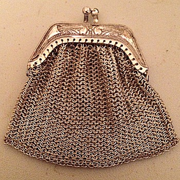 W. German Sterling Wire Mesh Purse