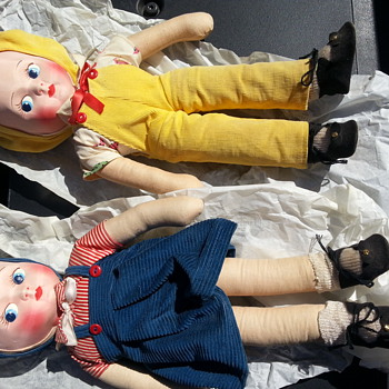 Silk Cloth Dolls (no info) help me please - Dolls