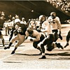 Football pictures from the old days.