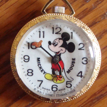 1970's Bradley Pendant Mickey - Wristwatches