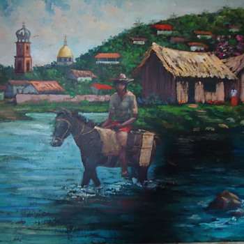 Javier Nino One of Mexico's finest artist, and my friend, Early painting I bought in early 1970's when he was very young!!!
