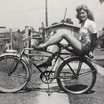 Vintage Bicycle Pin Up Girl Help ID?