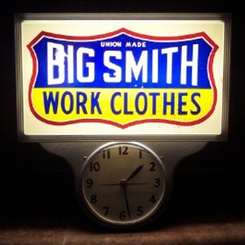 Big Smith Work Clothes Clock - Clocks