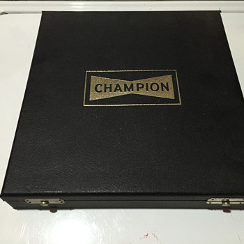 Champion Spark Plug Sample Case - Advertising