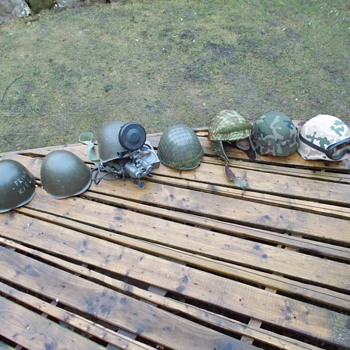 my polish army helmet collection  - Military and Wartime
