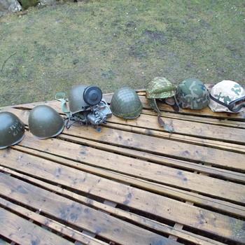 my polish army helmet collection