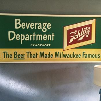 Schlitz Warehouse Sign - Breweriana
