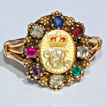 Caroline of Brunswick Acrostic Ring