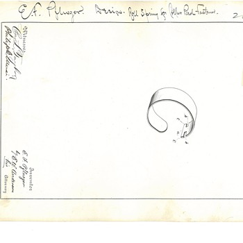 Original, USPTO issued Design Patent signed by Ernest F. Pflueger - Fishing