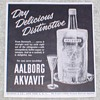 1954 Aalborg Akvavit Advertisements